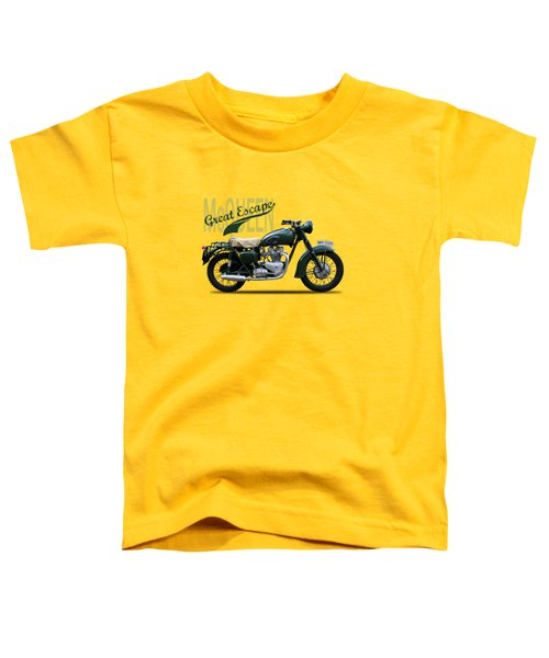 The Great Escape Motorcycle Toddler T-Shirt by Mark Rogan