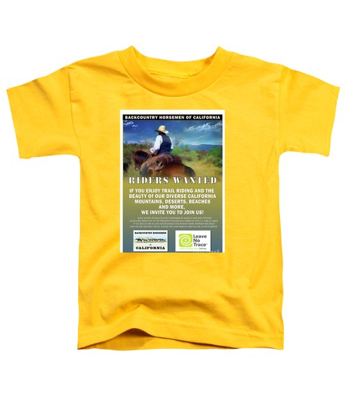 Backcountry Horsemen Join Us Poster Toddler T-Shirt