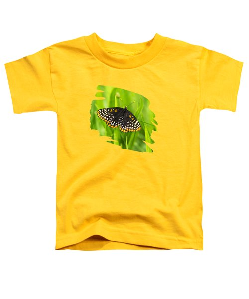 Baltimore Checkerspot Butterfly Toddler T-Shirt by Christina Rollo