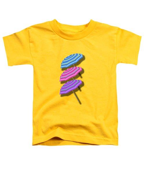 Beach Umbrellas Design Toddler T-Shirt