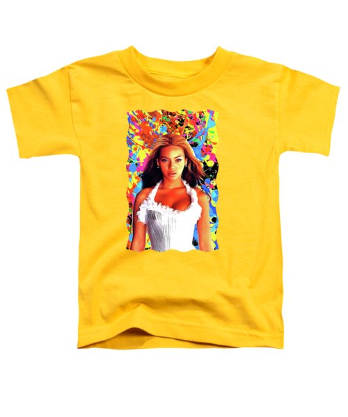 Beyonce Knowles - Celebrity Art Toddler T-Shirt