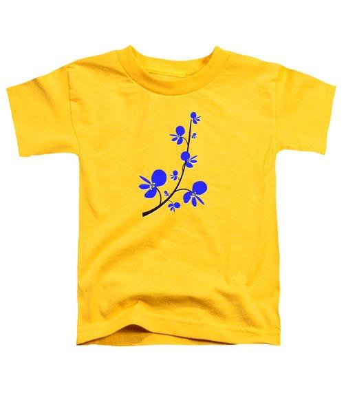 Blue Flowers Toddler T-Shirt