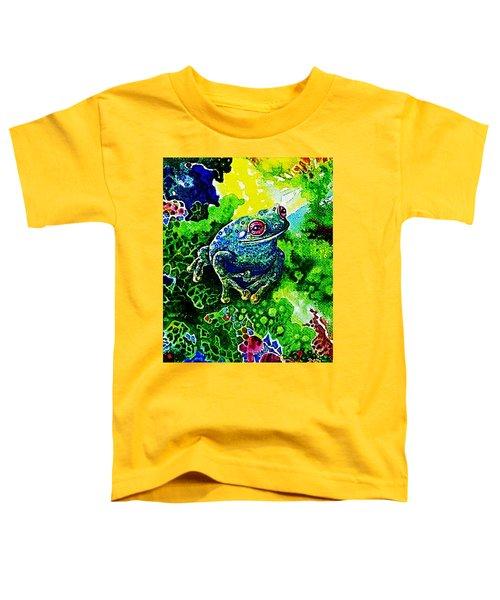 Blue  Frog Toddler T-Shirt