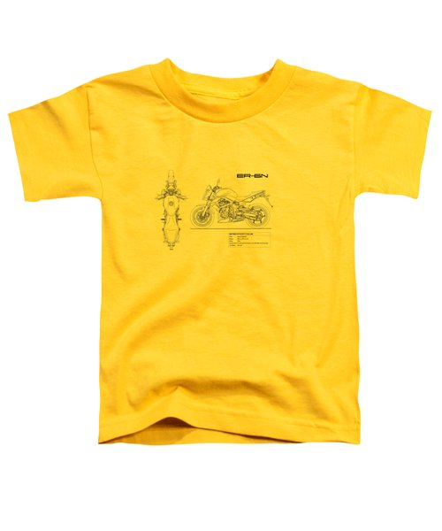 Blueprint Of A Er-6n Motorcycle Toddler T-Shirt