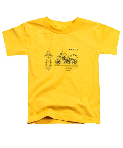 Blueprint Of A Z1000 Motorcycle Toddler T-Shirt