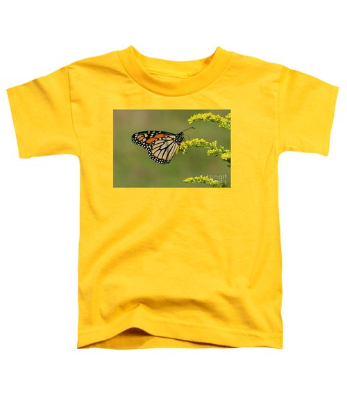 Butterfly On Flowers Toddler T-Shirt