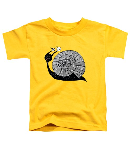 Cartoon Snail With Spiral Eyes Toddler T-Shirt