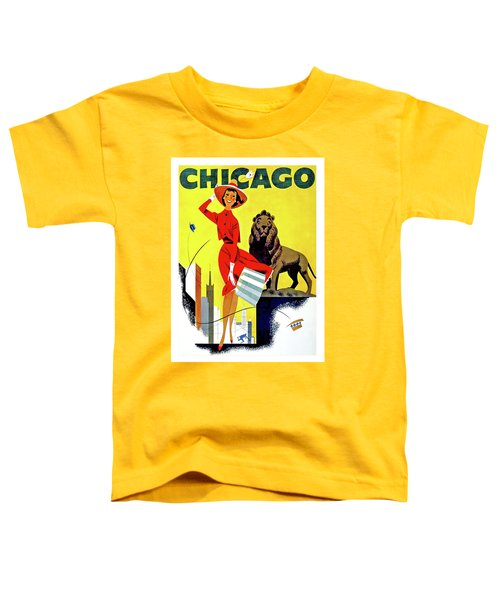 Chicago, Lion, Shopping Woman Toddler T-Shirt