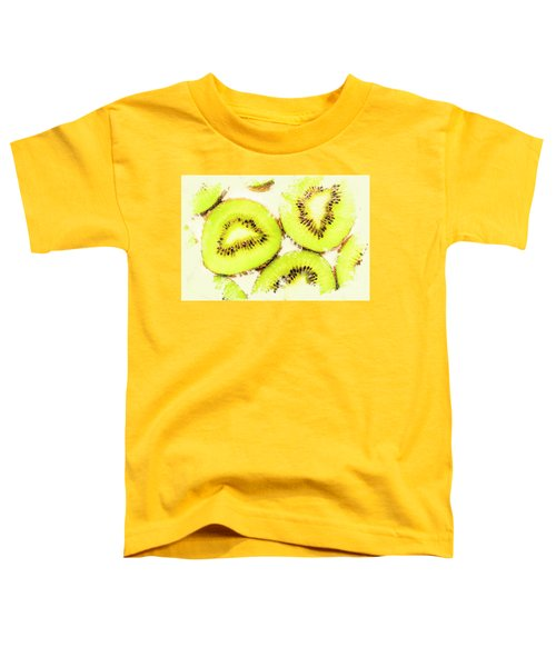 Close Up Of Kiwi Slices Toddler T-Shirt by Jorgo Photography - Wall Art Gallery