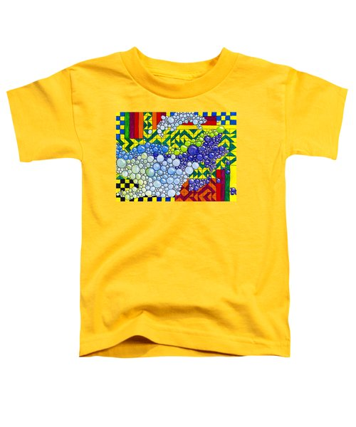 Colorful Bubbles On Tiles Toddler T-Shirt