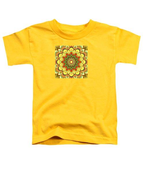 Colorful Flower Striped Mandala Toddler T-Shirt