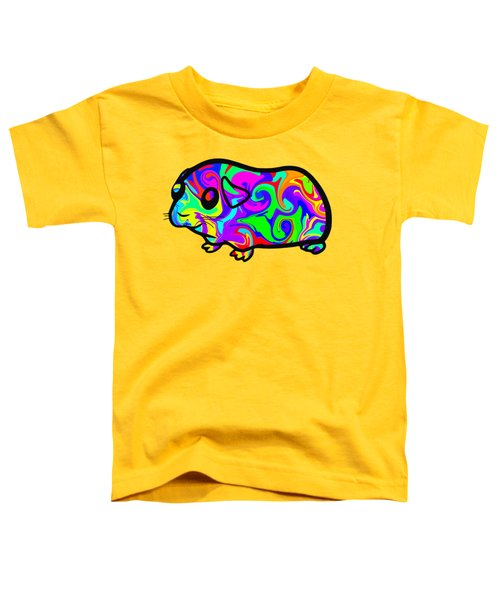Colorful Guinea Pig Toddler T-Shirt by Chris Butler