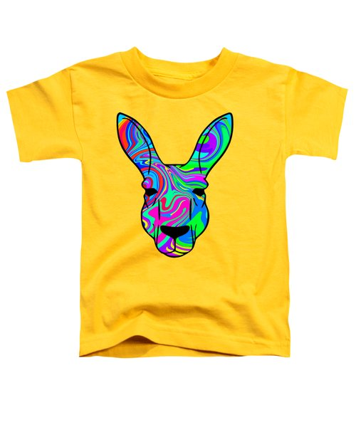 Colorful Kangaroo Toddler T-Shirt by Chris Butler
