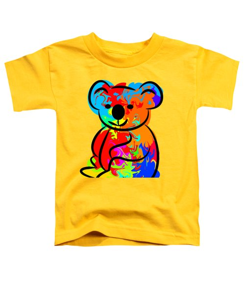 Colorful Koala Toddler T-Shirt by Chris Butler