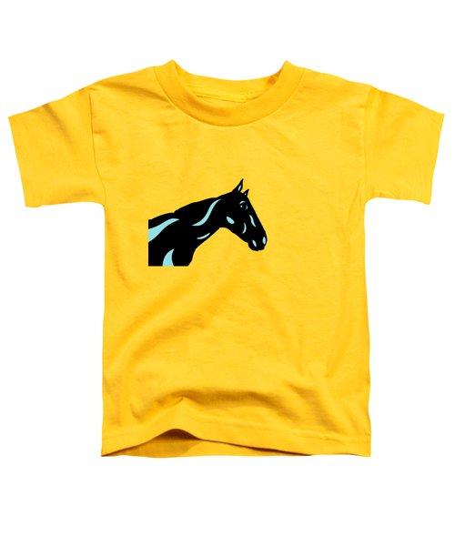 Crimson - Pop Art Horse - Black, Island Paradise Blue, Primrose Yellow Toddler T-Shirt