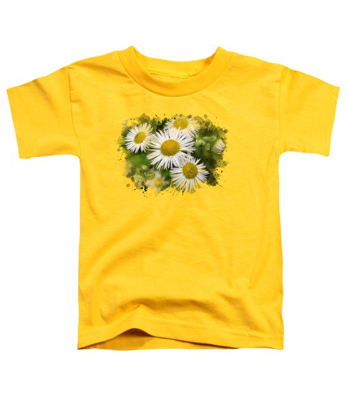 Daisy Watercolor Art Toddler T-Shirt by Christina Rollo