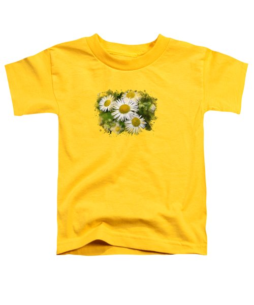 Daisy Watercolor Art Toddler T-Shirt