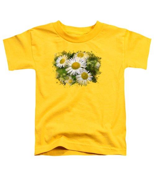Daisy Watercolor Art Toddler T-Shirt