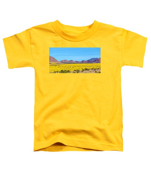 Death Valley Super Bloom 2016 Toddler T-Shirt by Peter Tellone
