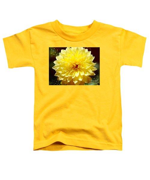 Dinner Plate Dahlia In Starry Sky Toddler T-Shirt