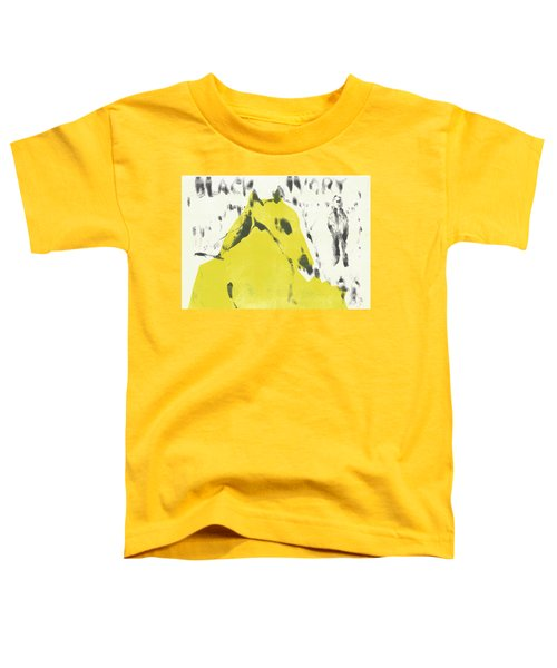 Dog At The Beach - Black Ivory 2 Toddler T-Shirt