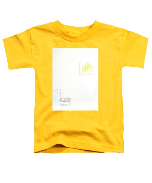 Empty Chair With Yellow Roses Toddler T-Shirt