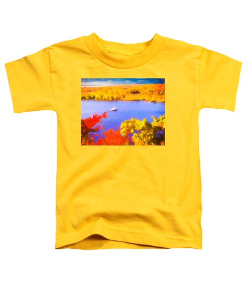 Ferry Crossing Connecticut River. Toddler T-Shirt