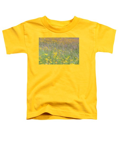 Field Of Yellow Flowers In A Sunny Spring Day Toddler T-Shirt