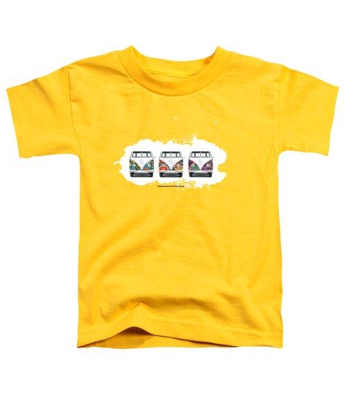 Flower Power Vw Toddler T-Shirt by Mark Rogan