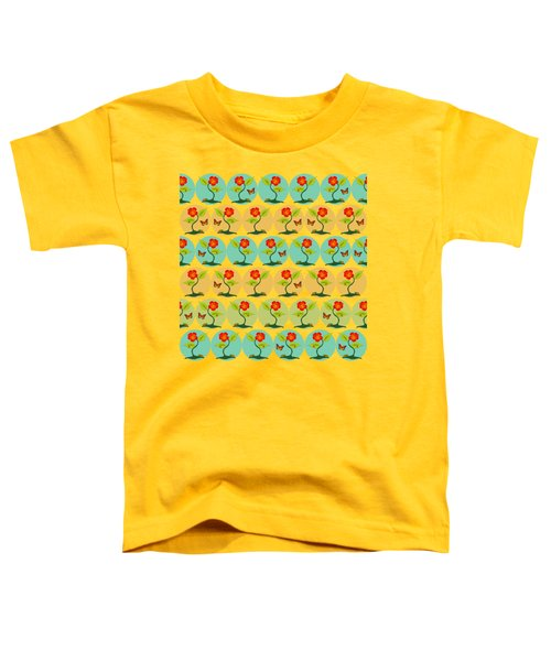 Flowers And Bubbles Pattern Toddler T-Shirt