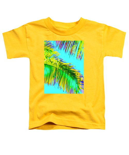 Fragment Of Coconut Palm Psychedelic Toddler T-Shirt
