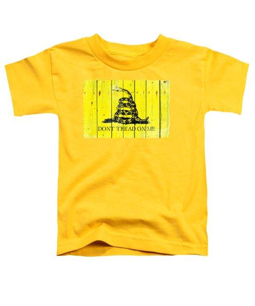 Gadsden Flag On Old Wood Planks Toddler T-Shirt