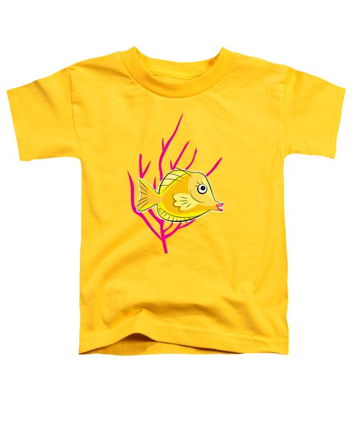 Hawaiian Yellow Tang  Toddler T-Shirt