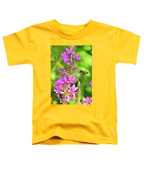 Honey Bee In Flight Toddler T-Shirt