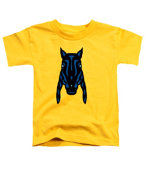 Horse Face Rick - Horse Pop Art - Primrose Yellow, Lapis Blue, Island Paradise Blue Toddler T-Shirt