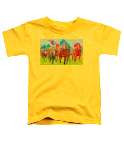 Horse Tracking Toddler T-Shirt