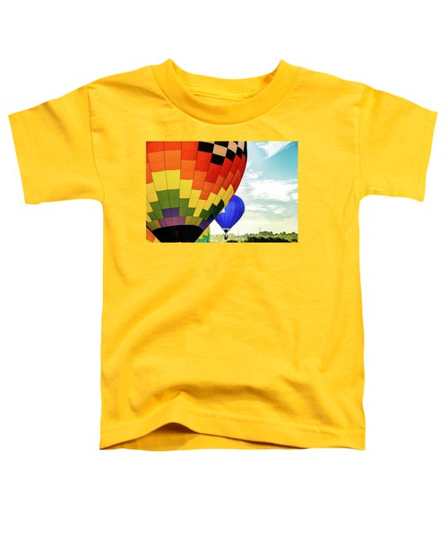 Hot Air Balloons Over Trees Toddler T-Shirt