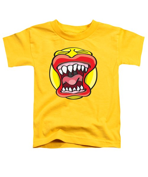 Toddler T-Shirt featuring the drawing Hungry Pacman by Jorgo Photography - Wall Art Gallery