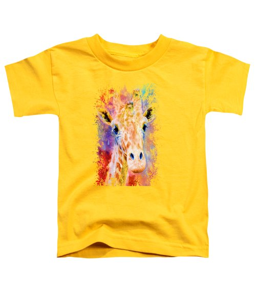 Jazzy Giraffe Colorful Animal Art By Jai Johnson Toddler T-Shirt