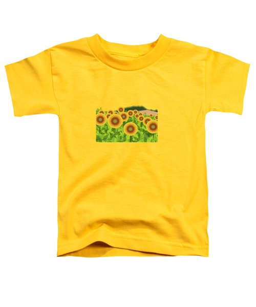 Land Of Sunflowers. Toddler T-Shirt by Absentis Designs