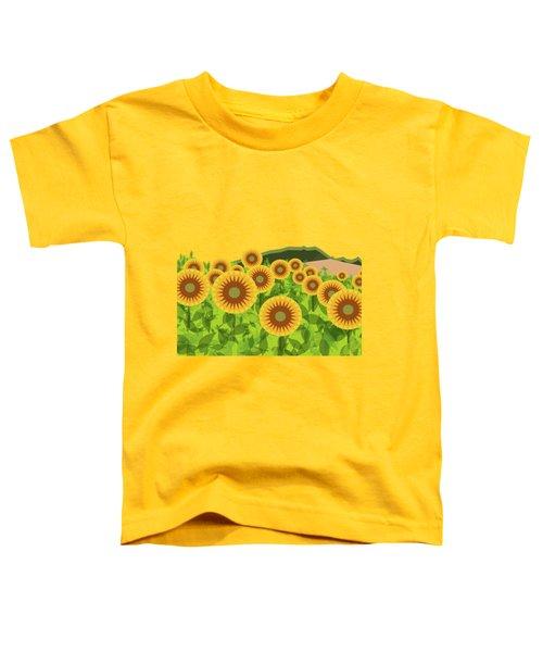 Land Of Sunflowers. Toddler T-Shirt