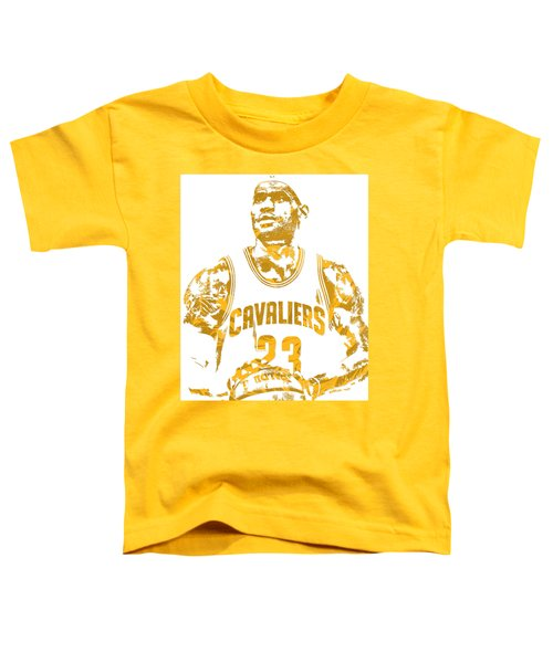 Lebron James Cleveland Cavaliers Pixel Art 8 Toddler T-Shirt