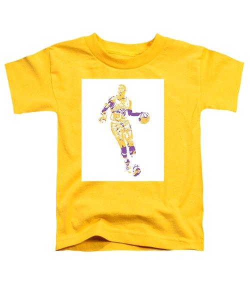 Magic Johnson Los Angeles Lakers Pixel Art 10 Toddler T-Shirt