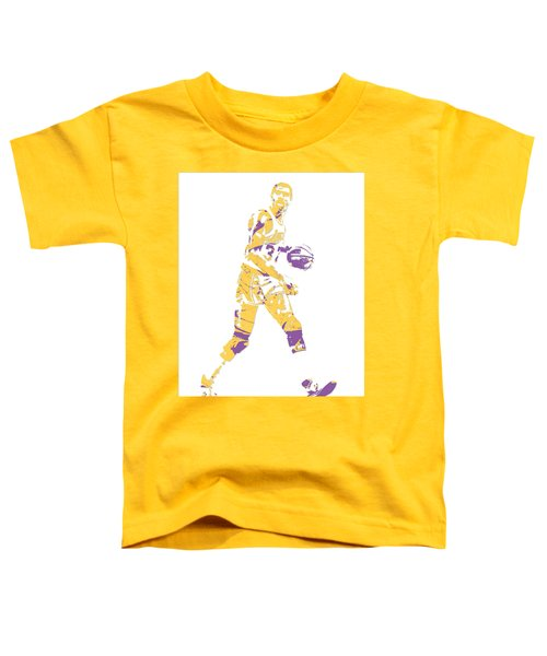 Magic Johnson Los Angeles Lakers Pixel Art 5 Toddler T-Shirt