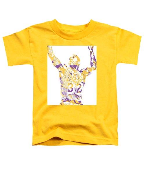 Magic Johnson Los Angeles Lakers Pixel Art 7 Toddler T-Shirt