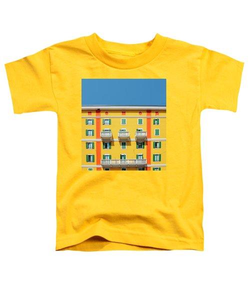 Mediterranean Colours On Building Facade Toddler T-Shirt