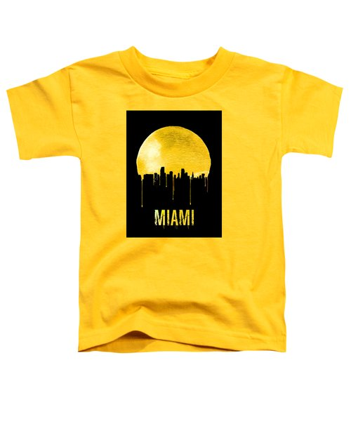 Miami Skyline Yellow Toddler T-Shirt by Naxart Studio