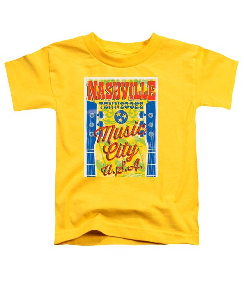 Nashville Tennessee Poster Toddler T-Shirt
