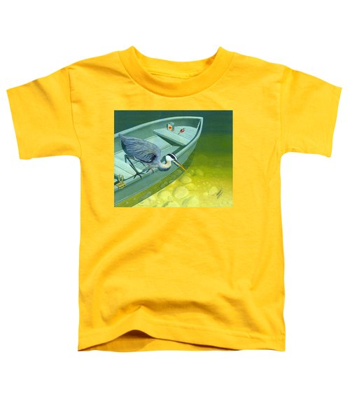 Opportunity-the Great Blue Heron Toddler T-Shirt