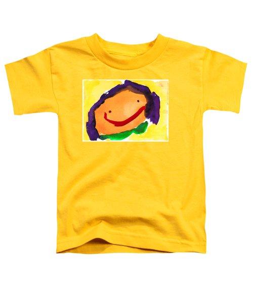 Orange Happy Face Toddler T-Shirt